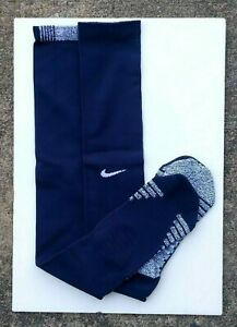CLEARANCE ~ NIKE GRIP OTC CUSHIONED KNEE HIGH FOOTBALL SOCKS NEW LARGE NAVY BLUE