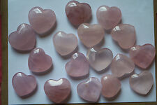 Top production processin 953g 17pcs Beautiful rose powder crystal heart to heal