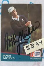 Pro Set Bobby Nichols 1991 238 Autographed PGA Tour  Single Auto