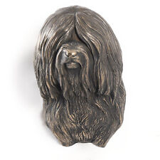Tibetan Terrier, dog statuette to hang on the wall, UK