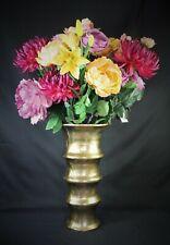 Edle Blumenvase von Colmore Gold Alu 42cm hoch NEU Gefäß Vase 3,4kg
