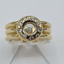 Chopard Happy Diamonds anello oro 750 punziert MIS. 56 circa 0,3 CT BRILLANTE