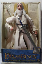 THE LORD OF THE RINGS DELUXE POSEABLE GANDALF THE WHITE #81223 TOY BIZ 2004