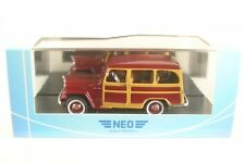 JEEP WILLYS Station Wagon (Rojo Oscuro/WOODY COMO ) 1954