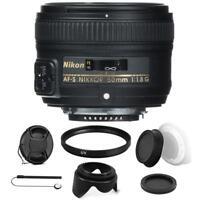 Nikon AF-S NIKKOR 50mm f/1.8G Lens with Accessory Kit For Nikon D7000 , D7200
