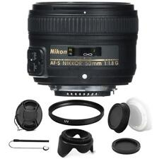 Nikon AF-S NIKKOR 50mm f/1.8G Lens with Accessory Kit For Nikon D7000 , D7200