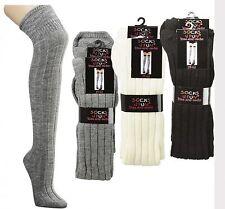 Sobre la rodilla Negro, Blanco lana, Gris, para Teenager und Mujer CH-2728