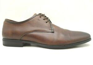 Aldo Brown Leather Lace Up Dress Oxfords Shoes Men's 43 / 10