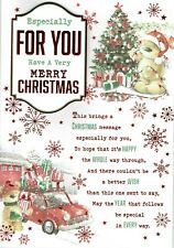 ESPECIALLY FOR YOU - Quality Large CHRISTMAS Card Male Cute Bears Design