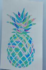 Pineapple decal Cup Mug decal 3.5 h. Printed vinyl. Beach, summer life Lilly.