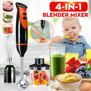 4-in-1 300W 220V Electric Handheld Blender Stick Mixer Juice Meat Stirrer