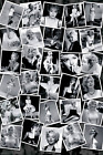 Marilyn Sam Shaw 30 Photo Collage 24x36 Poster White Dress Flowers Beach Candids