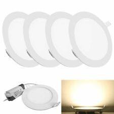 4X 18W Round LED Recessed Ceiling Panel Down Lights Bulb Slim Home Lamp Fixture