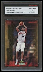 LEBRON JAMES 2003-04 UPPER DECK #7 1ST GRADED 10 ROOKIE CARD LAKERS/CAVALIERS