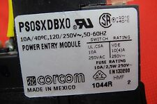 IEC POWER ENTRANCE SWITCH,EMI/RFI FILTER, FUSE BLOCK CORCOM PS0SXDBX0 120V-250V
