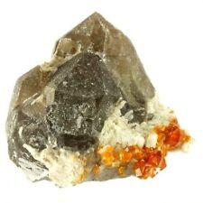 Smoky Quartz & Spessartine Crystals Tongbei Fujian Prov. China (212320)