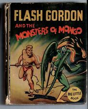 Rare THE BIG LITTLE BOOK Whitman! Fine 1935 Flash Gordon! 'Monsters of Mongo'