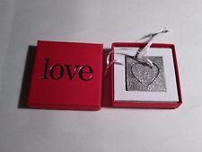 Vilimain 2002 Pewter 2-Piece Cutout Heart Ornament