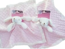 Blankets and Beyond Bunny Blanket Soft Lovey Pink and White