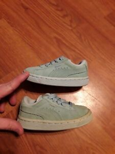 PUMA 353636 Infants Suede Classic Kids Shoe  Clearwater Size 6
