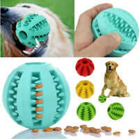 Pet Dog Rubber Ball Chew Treat Dispensing Holder Dental Training Clean Feed Toy