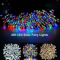Solar Power LED Fairy String Lights Outdoor Garden L6C0 Party Wedding Decor D3V3