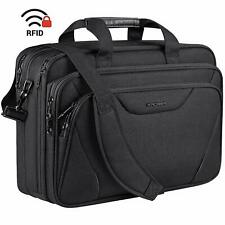Large Laptop Bag 17.3 Inch Briefcase Expandable Water-Repellent Business Travel