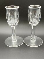 """Waterford Lismore Round Candlesticks 5"""" Tall Mint"""
