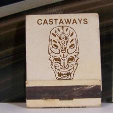 Rare Vintage Matchbook Cover S2 Las Vegas Nevada Castaways Polynesian Exotic Mas