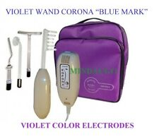 VIOLET WAND DARSONVAL CORONA BLUE MARK for Home & Salon use 10 VIOLET electrodes
