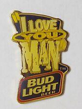 New listing Budweiser Bud Light Beer I Love You Man Lapel Pin