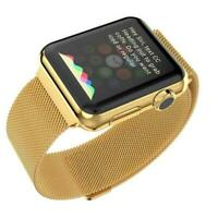 for Apple Watch Series 3 4 5 42mm Milanese Loop Sport Strap Band Limited Gold