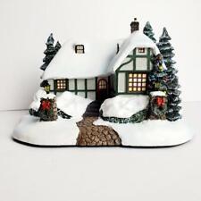 Thomas Kinkade Hawthorne Village - Christmas Cottage - Lighted - Coa