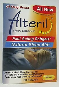 Alteril Natural Sleep Aid 30 Softgels Dietary Supplement All New • Exp 03/22