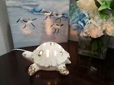 Nautical Coastal Beach Sea Turtle Lighted Tabletop Decor  NEW