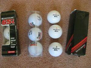 3 PACKS OF 3 NEW/UNUSED/UNWANTED/BOXED WHITE GOLF BALLS DUNLOP 65i/PARETO/