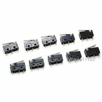 US Stock 10pcs Laser Machine Micro Limit Sensor Switch 3 PIN SPDT KW12 3A 250VAC