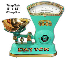 Vintage Dayton Scale Reproduction Laser Cut Out Metal Sign 16.5x18