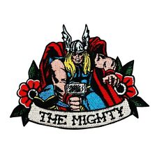 "Classic Thor Fan ""The Mighty"" Iron-On Patch Marvel Superhero Character Applique"