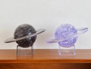 3D Crystal Blocks Saturn Planet DIY Puzzle Glittery Plastic Model Toy Kids Gift