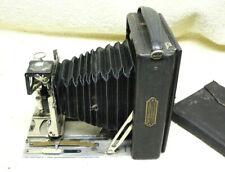 Krugener 9x12 cm Folding Bed Plate Camera w/Goerz 135mm Lens +3 Plates in Wallet
