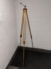 L👀K .: Vintage PANRITE Wooden Wood Camera Tripod w/ Universal Head - Nice!