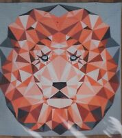 Jungle Abstractions Lion - foundation paper pieced quilt PATTERN - Violet Craft