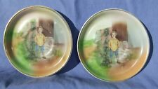 2 Vntg Jack In The Beanstock Story Small Collector Plates Unmarked