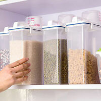 2L Large Cereal Dispenser Storage Box Kitchen Food Grain Rice Containers Case
