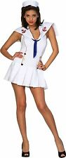 Sexy Hit the Deck White Costume Marine Navy Officer Sailor Dress Women Small 6-8