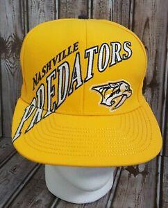 NASHVILLE PREDATORS REEBOK NHL FACE OFF HEADGEAR FLATBILL CAP HAT SNAPBACK