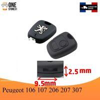 Boîtier Coque télécommande clé plip pour Peugeot 106 107 206 207 307 9.5 mmx2.5