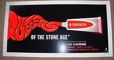 QUEENS OF THE STONE AGE concert gig tour poster 6-7-13 BROOKLYN 2013 kii arens