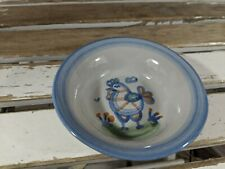 M A Hadley rooster chicken 4.5″ mini dish bowl trinket MA pottery country blue